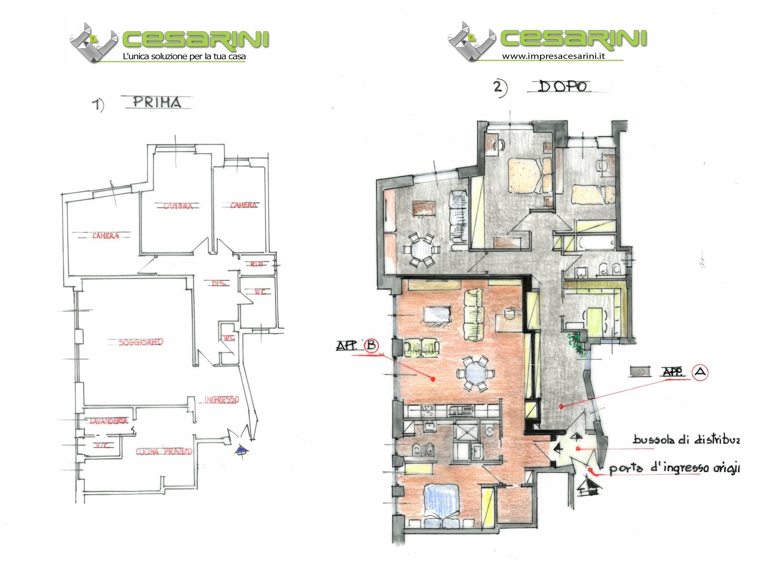 Progetto Appartamento 50 Mq frazionamento di un appartamento - perchè ed esempi
